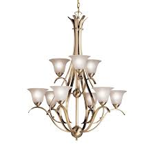 9 light chandelier brushed nickel loading zoom larger view rollover to zoom