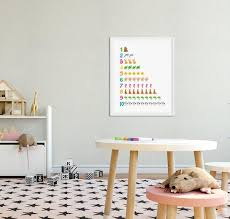 numbers poster kids room decor