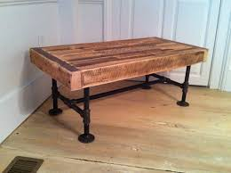 Industrial wood steel coffee table, reclaimed barnwood with industrial pipe  legs. Love the industrial look!
