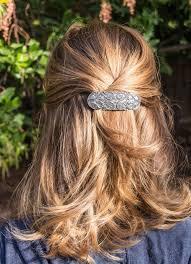 Oberon Design Hair Clips Hair Clip Barrette Celtic Peacock 70mm Vintage Wedding