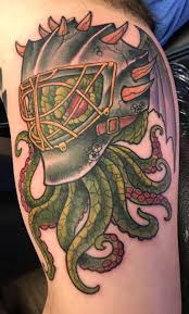 Goalie Cthulhu Tattoo By John Clark At Depiction Tattoo Gallery In