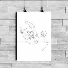 One Line Love Couple Printable Minimalist Dancing Couple Art Illustration Couple In Love Continuous Line Drawing Scandinavian Wall Decor