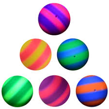 6in Inflatable Two-Color <b>Rainbow</b> Ball Collection Bulk (<b>100 pcs</b> ...