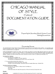 Chicago Manual Of Style Document Guidepdf Citation Publishing