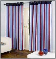 red white blue curtain panels