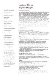 supply chain resume templates logistics manager resume 1 2 page version logistics manager logistics resume