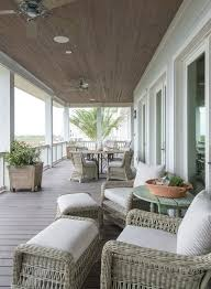the porch furniture. Spacious Serene Second Floor Wraparound Porch With Wicker Furniture The