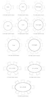 8 person table size round for dimensions 6 dining seat room
