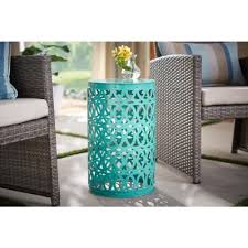 iron frame outdoor side tables