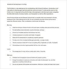 new employee orientation schedule 10 orientation schedule samples templates pdf word