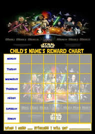 Star Wars Behavior Chart Star Wars Personalised Reward Chart With Free Stickers And Pen