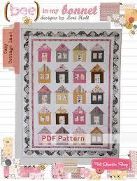 Cozy Cottage Lane Downloadable PDF Quilt Pattern Bee in my Bonnet ... & Cozy Cottage Lane Downloadable PDF Quilt Pattern Bee in My Bonnet ... Adamdwight.com