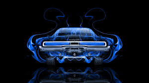 Dodge Charger Muscle Retro Back Fire Abstract Car El Tony