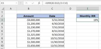 Learn How To Calculate The Monthly Irr In Excel Excelchat
