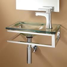 bangor wallmount glass sink  bathroom