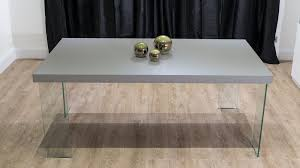 4 6 seater grey dining table with glass legs