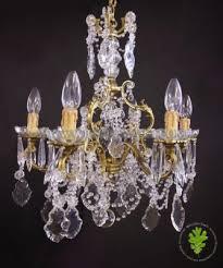 fine quality french bronze crystal chandelier circa 1940