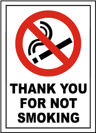 Thank You Not Thank You For Not Smoking Sign