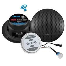 Get Pyle Bluetooth Marine Grade Flush Mount 2-Way Speaker ...