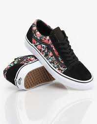 converse shoes for girls black and white. vans old skool girls skate shoes - multi floral/black/true white routeone converse for black and e