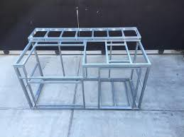 bbq island frame kit diy