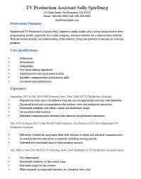 Tv Production Resume Templates Memberpro Co Assistant Tem Sevte