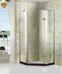 frameless 5 16 inch thick clear tempered glass shower cubicle shower enclosure