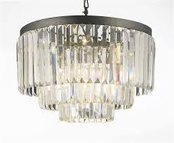 g7 1100 9 gallery chandeliers retro odeon crystal glass fringe 3 tier chandelier