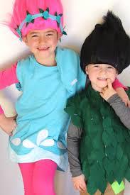 trolls costume wig kids leaves