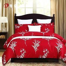 wedding fl satin bedding set cotton bed king queen flower linen duvet cover bedcl