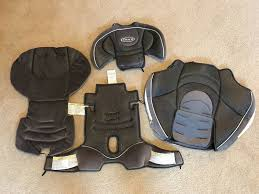 details about graco nautilus car seat booster replacement fabric cover only set has snags wear
