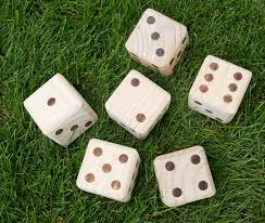 Wooden Yard Games YardGamesUS Giant Wooden Yard Dice Reviews Wayfair 8