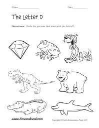Alphabet Capital And Small Letter D Worksheet For Kids Free ...