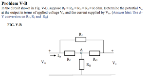 Vin Chart Conversion Solved Problem V B In The Circuit Shown In Fig V B Supp