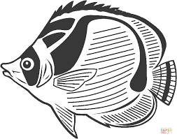 Small Picture Butterfly Fish coloring page Free Printable Coloring Pages