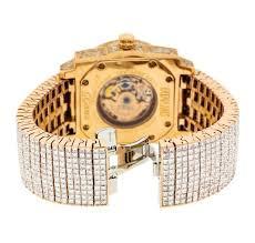 watch auction dunamis 18kt rose gold 52 00 ctw diamond men s now on live auction dunamis 18kt rose gold 52 00 ctw diamond men s watch
