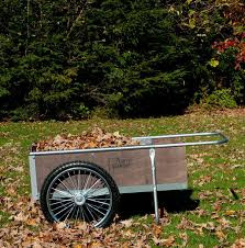 com garden cart with pneumatic wheels medium size wood steel 20 1 4 h x 21 1 2 w x 52 1 2 d yard carts garden outdoor