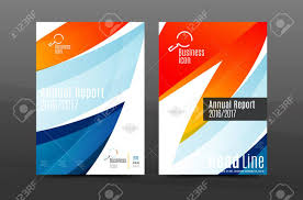 Annual Report Cover Template Colorful Swirl Design Annual Report Cover Template Brochure 15