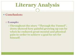 what is a literary analysis ppt video online  15 literary analysis conclusion