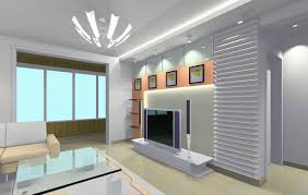 image of stylish modern living room lighting