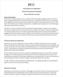 How To Write A Job Description Template Hr Manager Job Description 8 Free Sample Example Format
