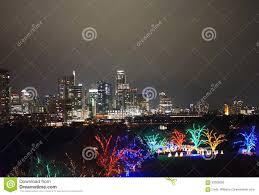Austin Christmas Light Festival Austin Texas And Zilker Park At Christmas Editorial Photo
