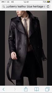 stunning burberry leather trench coat 07983409133