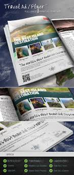 Ad Page Templates Easy To Customize Travel Tourism Vacation Destination
