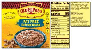 old el paso refried beans black
