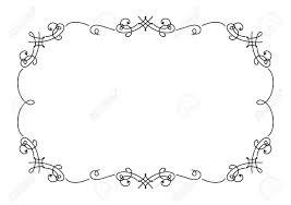 simple frame design. Wonderful Frame Calligraphic Rectangle Frame Simple Frame Ornament Decorative Design  Element In Retro Style Certificate Intended Simple Frame Design