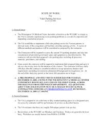 Valet Parking Resume Sample Business Contract Between Two Valet
