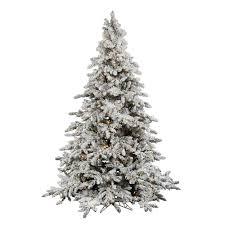 Flocked Christmas Tree Vickerman Flocked Utica Fir Christmas Tree Flocked Christmas