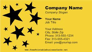 Golden Stars Business Card