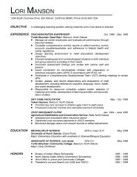 Teaching Resumes Teaching Resume Objective Examples Samplebusinessresume